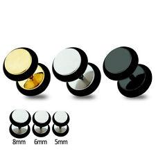 Fake Plug Barbell Fake Earring Gauges Piercing Earring 3pairs made in korea