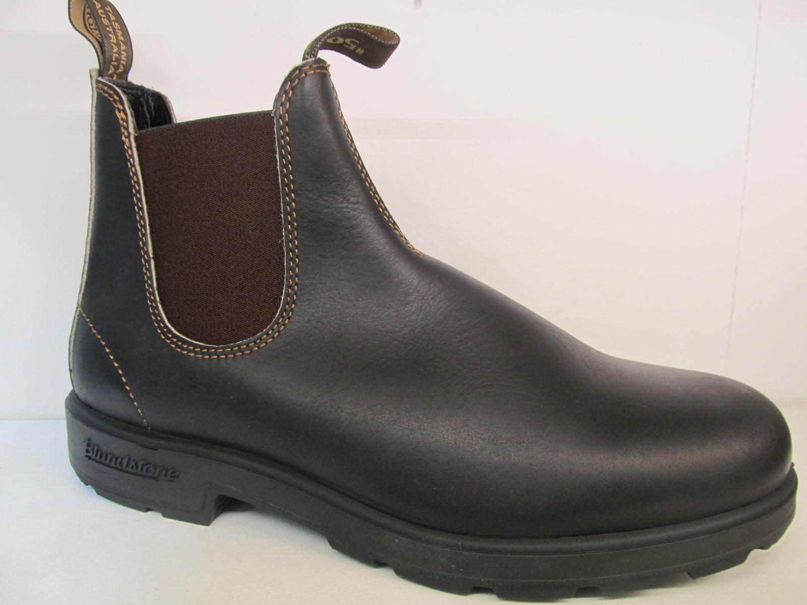 8a419404 azulndstone 500 Stout Marrón Cuero Chelsea Tobillo Elástica cara V Corte  Bota Zapato