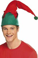 Adult Elf Hat Unisex Mens Womens Size M/l Christmas Green Red Xmas