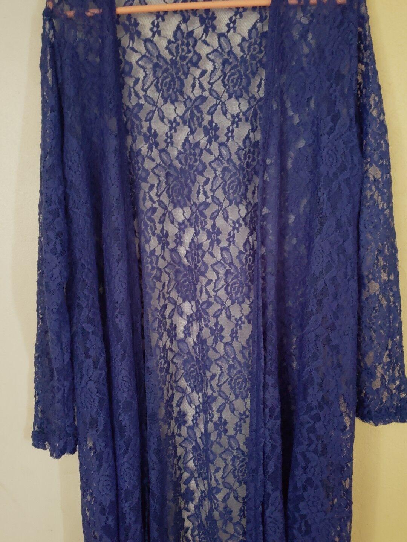 Lularoe Sarah bluee Lace Large