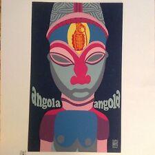 Original Angola OSPAAAL Silkscreen Cuban Political Poster 1969 Daysi Garcia