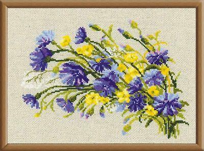 RIOLIS  1576  Bouquet avec bleuets  Broderie  Point de Croix compté