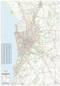 LAMINATED-SUPER-MAP-OF-GREATER-ADELAIDE-GIANT-POSTER-100x140cm-WALL-CHART-SA