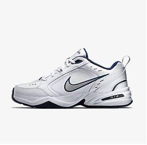 Nike Air Monarch IV Men s Running Shoes White Grey 415445 102 Fast ... 9a9d9b776