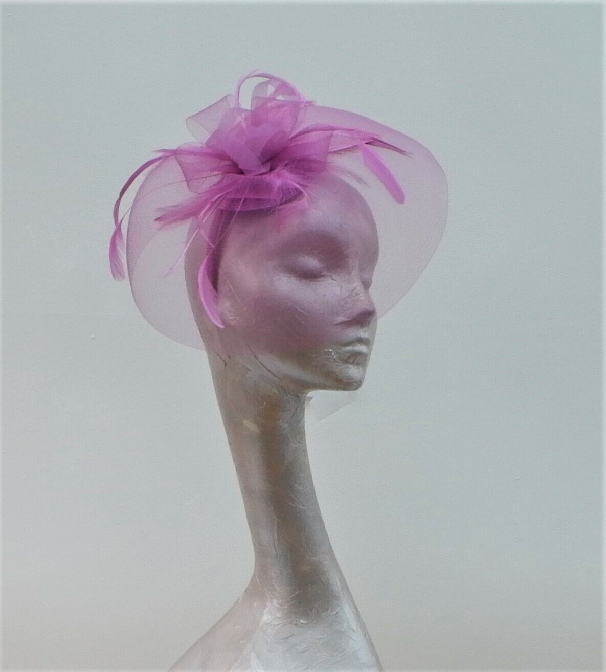 50's Style Veiled Fascinator Heather BY HATS2GO