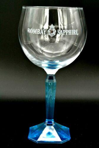 Bombay Sapphire Gin Glas Ballonglas blau 48cl Stiel Bar Deko Logo Neu