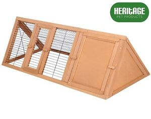 Heritage-de-Madera-Triangulo-Conejo-Hutch-ejecutar-jaula-cobaya-huron-Coop-al-aire-libre