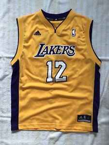new product 01cc5 2bd25 Details about ADIDAS Los Angeles Lakers 12 Dwight Howard NBA Kids Jersey SZ  Youth Large Lebron