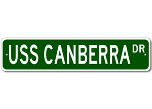 USS-CANBERRA-CA-70-Ship-Navy-Sailor-Metal-Street-Sign-Aluminum