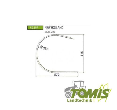 New Holland 286 Segmentblech PickUp Blech Segment Abstreifer