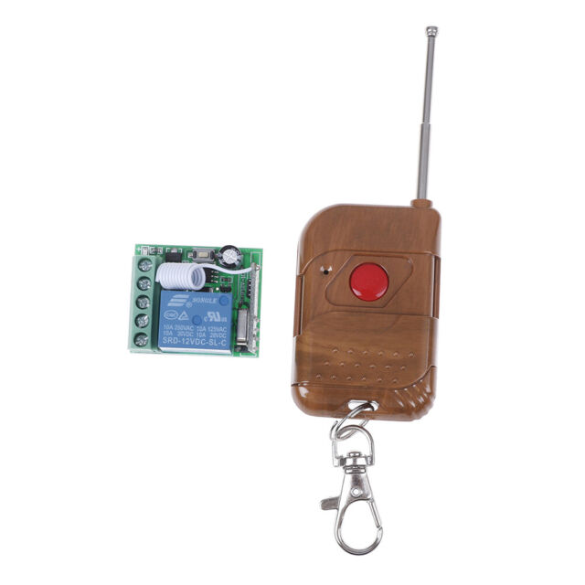 DC 12V 1 Channel Wireless Relay Remote Control Switch Receiver' With Transmitter