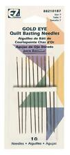 EZ QUILTING SEWING QULTING GOLD EYE QUILT BASTING NEEDLES 882101B7A