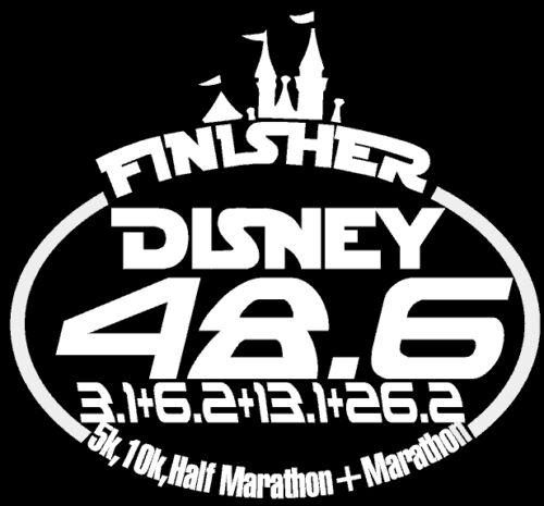 10K Disney 5K Marathon /& Half Marathon Finisher 48.6 Florida Decal