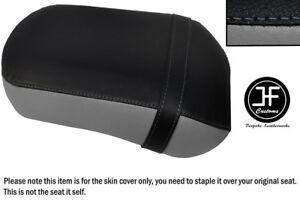 BLACK /& WHITE CUSTOM FITS SUZUKI VZ 800 MARAUDER 96-01 REAR LEATHER SEAT COVER