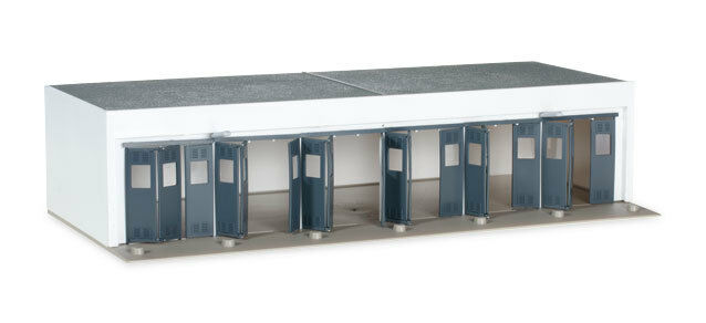 Herpa 745819 Military Building set 6 -stall Garage 1 87 Scale Airport Diorama