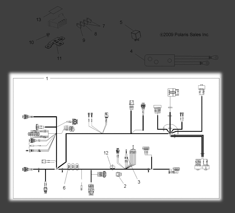 Polaris Sportsman 500 HO 4x4 2010 Wiring Harness 10071 for sale online    eBay
