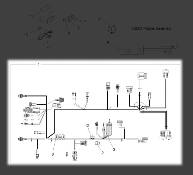 Polaris Sportsman 500 HO 4x4 2010 Wiring Harness 10071 for sale online |  eBay | Sportsman 500 Ho Wire Diagram |  | eBay