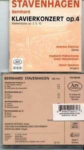 Bernard STAVENHAGEN: Piano Concerto #1, Nine Klavierstücke - OOP - Pistorius