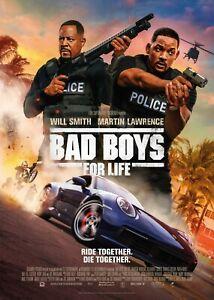 Bad Boys 1995 Movie Poster Print A0-A1-A2-A3-A4-A5-A6-MAXI 865