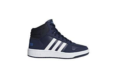 Scarpe Adidas Vs Hoops Mid K 2.0 DB1950 Bambino Sport Alte Ginnastica Blue Nuovo | eBay