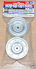 Tamiya 54737 Matte Plated Silver Dish Wheels (26mm Width, Offset +4) (CC01)