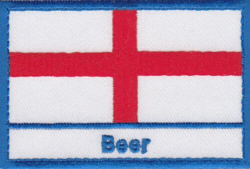 Beer England Town /& City St George Cross Embroidered Sew on Patch Badge
