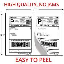 2000 Shipping Labels Half Sheets 2 Per Sheet 85 X 11 Self Adhesive