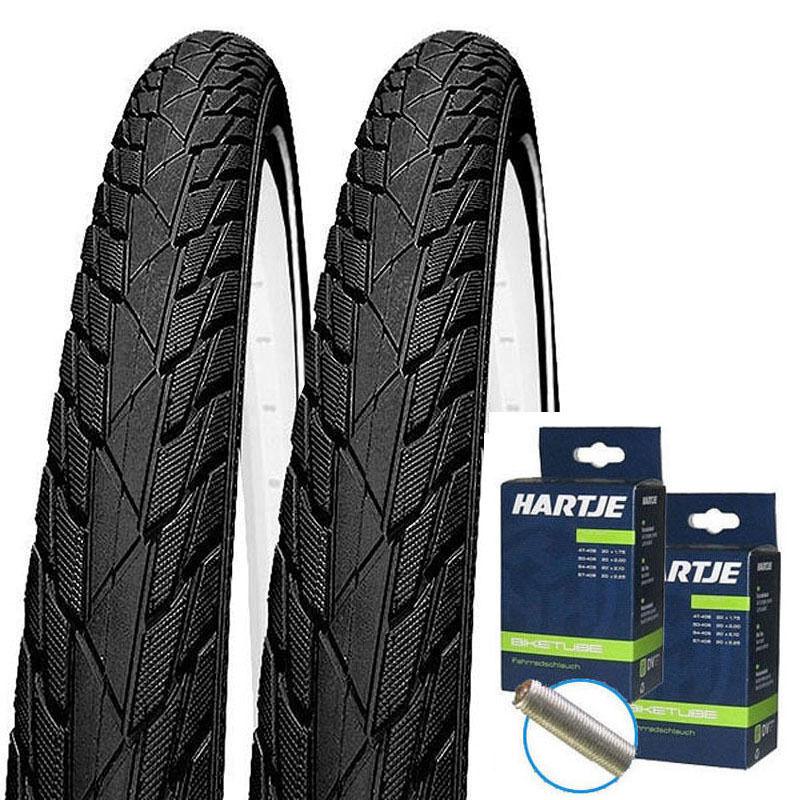 2 x Impac Streetpac Streetpac Streetpac REFLEX Fahrrad Reifen 26x1.75   47-559 + passende Schläuche  | Erlesene Materialien  3b234a