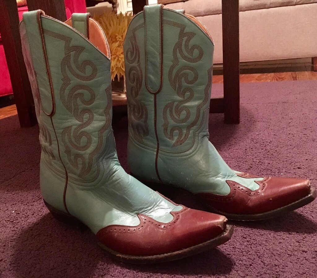 Cute Old Gringo women's turquoise cowboy cowboy cowboy boots with brown toe ee190f