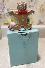 """Vintage Partylite Gingerbread Tealight/Votive Candle Holder Original Box 3 1/2"""""""