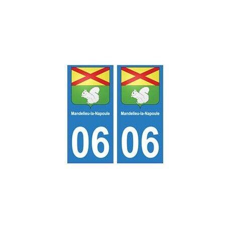 06 Mandelieu-la-Napoule autocollant plaque -  Angles : droits