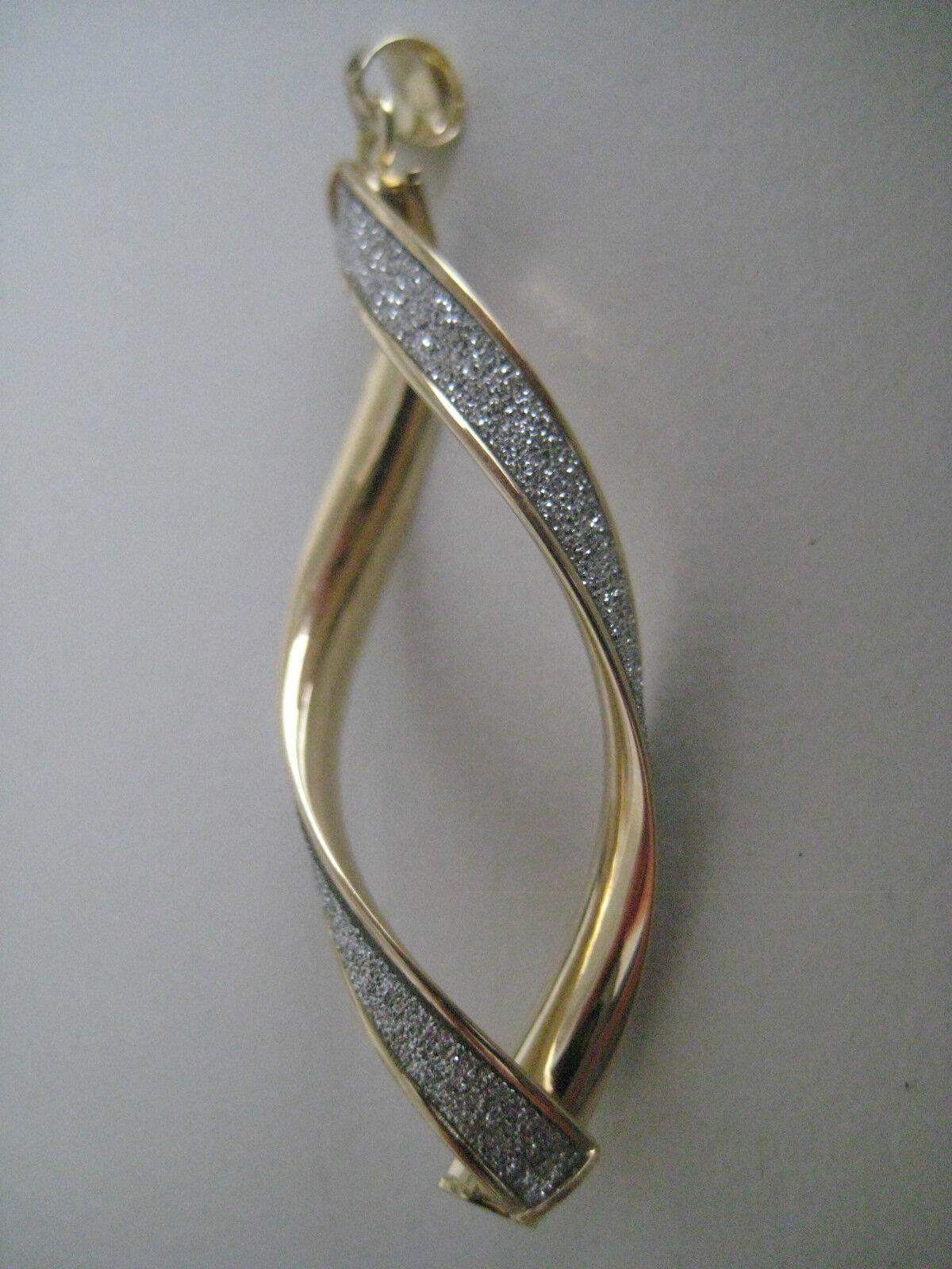 oro Penzolanti Ciondolo Ciondolo Ciondolo oro Giallo 9 CARATI Intrecciato Effetto Glitter Diamond c2f83f