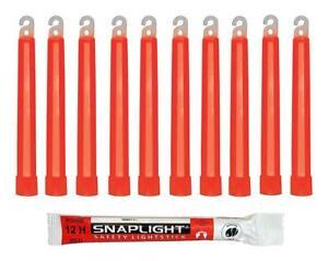 Cyalume SnapLight Rot KnickLichter Glow Sticks 15cm 12 Stunden Leuchtstab