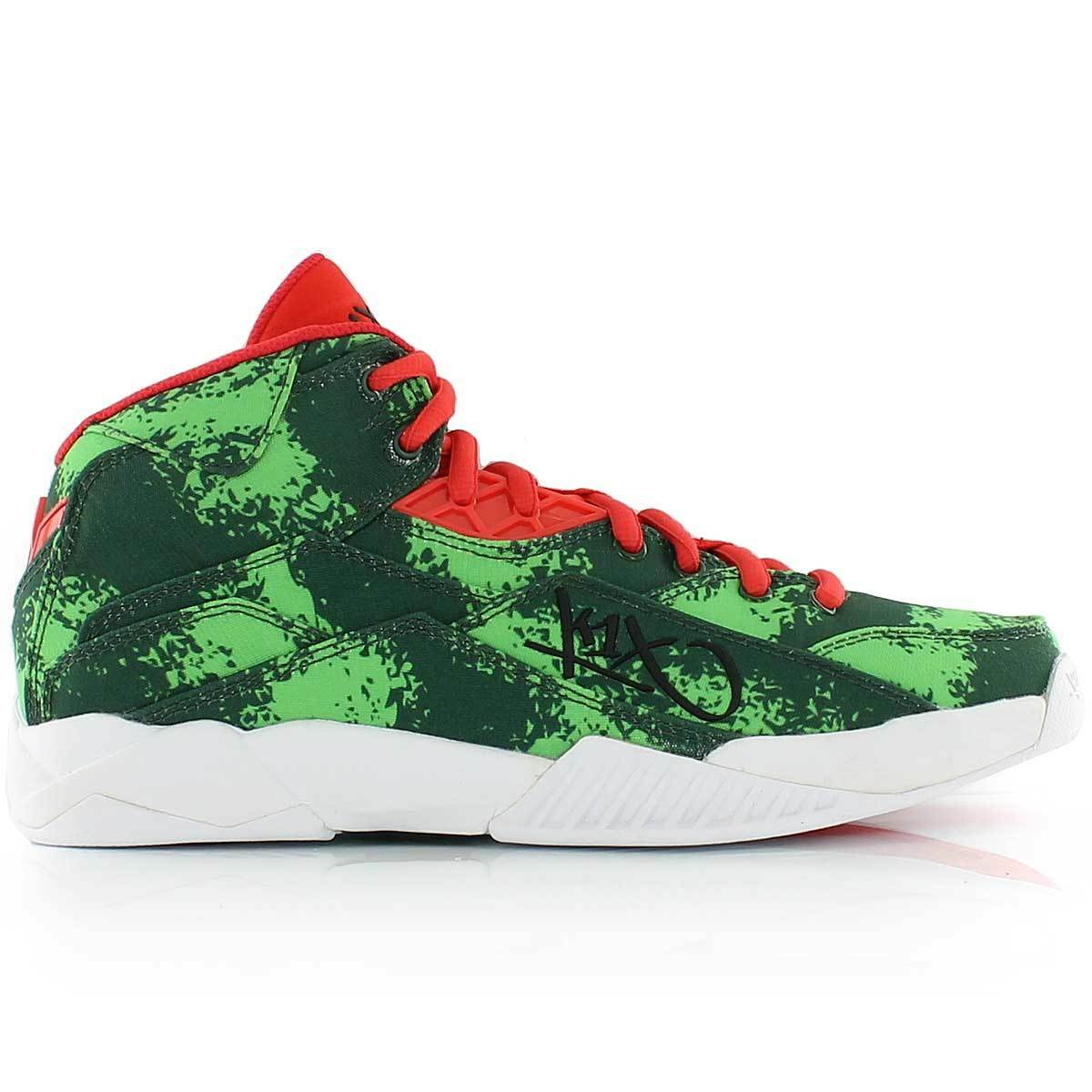 K1X anti Gravity Melon Basketball shoes Green mid Cut