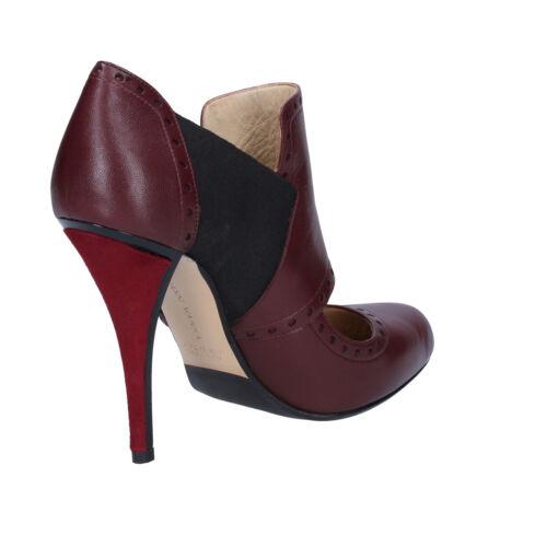 37 By795 Bordeaux Scarpe 37 Gianni Pelle Eu Marra Donna Tessuto Tronchetti xwqUHz7t