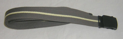 "OLIVE GREEN YELLOW STRIPE 1 1//4/"" 54/"" XXL ADJUSTABLE WEBB  BELT BRACE YOURSELF"
