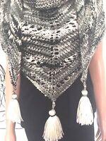 Hand Knits 2 Love Shawl Triangle Ombré Designer Fashion Tassels Wedding Birthday