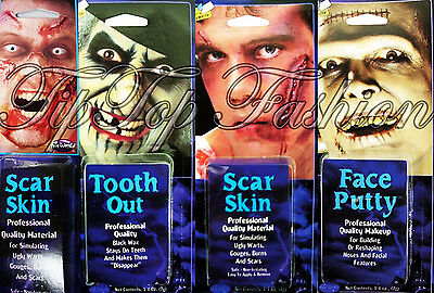 Capace Faccia Putty, Spaventose Dente, Cicatrice Pelle Make Up Kit Costume Accessorio Halloween-mostra Il Titolo Originale