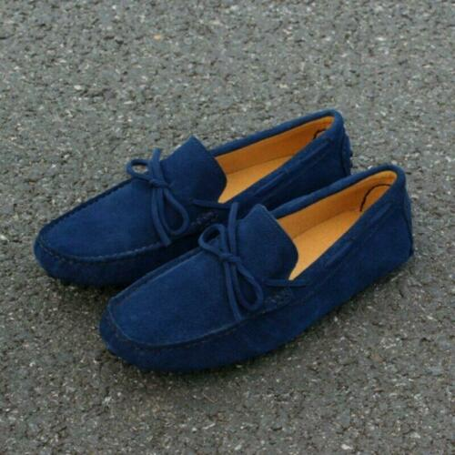 Mens Boat Shoes Gommino Loafers Bowknot Moccasins Suede Driving Slip On Korean