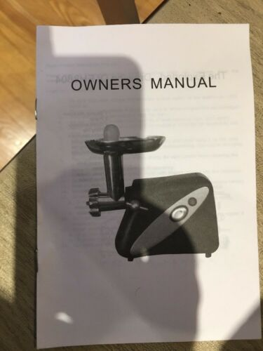Savoureux Electric Meat Grinder # 99307 With Accessories Make Sausage New!