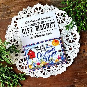 GAMMY-Magnet-Sky-Blue-100-relatives-amp-Grandma-names-DecoWords-Gift-Magnet-USA