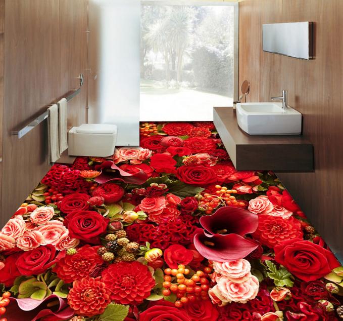 3D Bright ROT Garden 89 Floor WallPaper Murals Wall Print Decal AJ WALLPAPER US