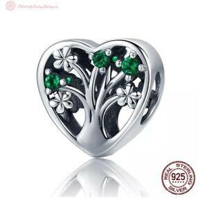 Charm-Anhaenger-w-f-Pandora-Baum-des-Lebens-Blumen-Ast-Perle-925-Sterlingsilber