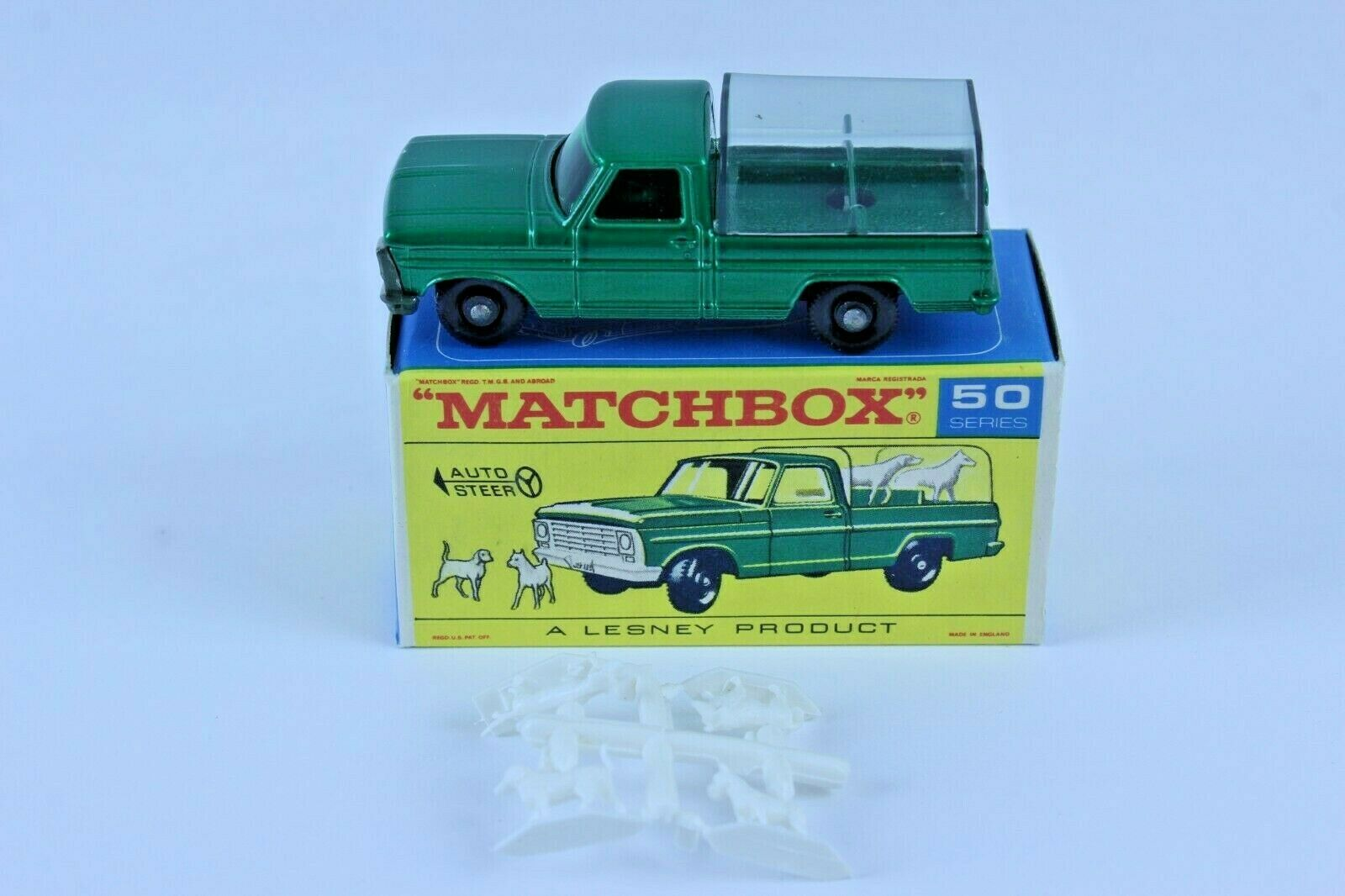 FANTASTIC MATCHBOX  50 KENNEL TRUCK MINT NEW OLD STORE STOCK FROM CASE
