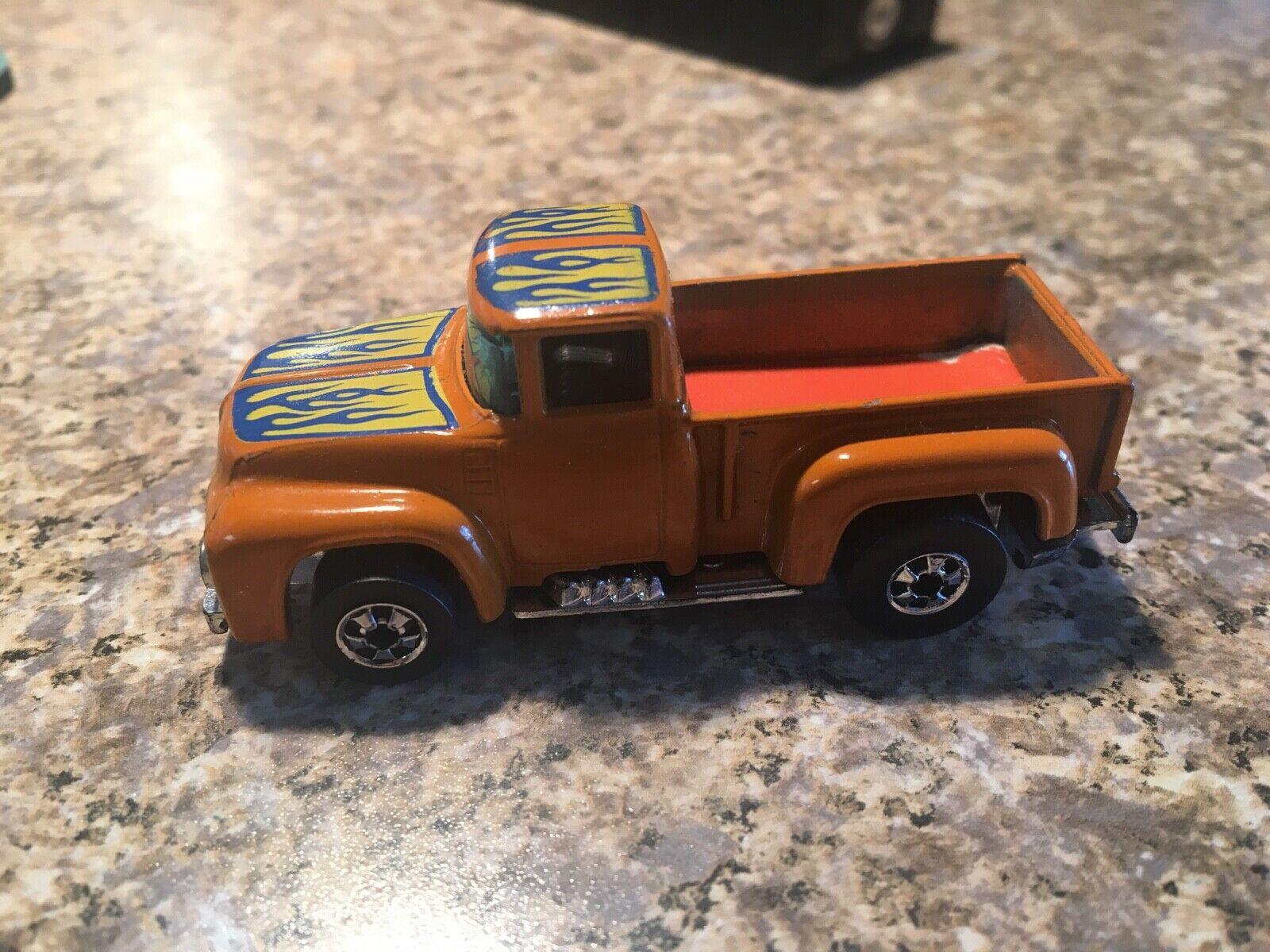 Vintage 1973 Hot Wheels Hi Cola Hauler camión naranja llamas sin Motocicletas