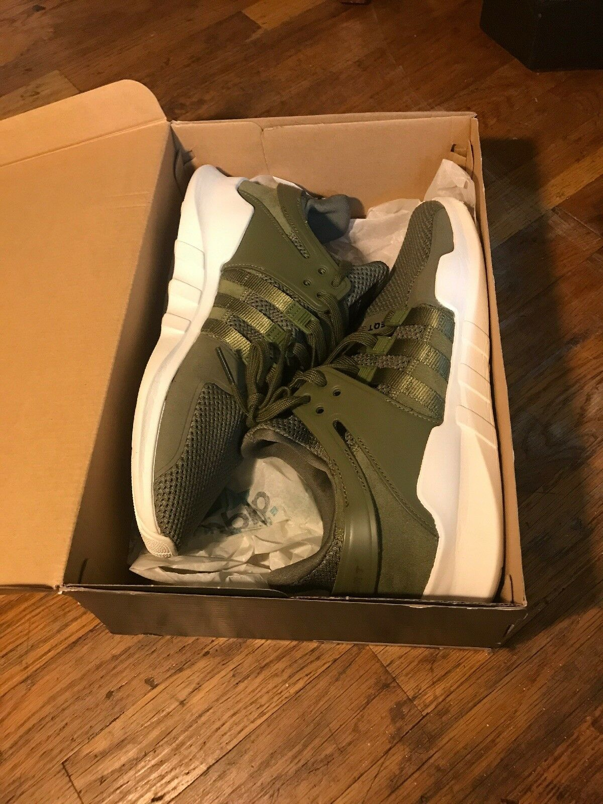 Adidas Support EQT ADV Originals Men Running shoes White Cargo Green Size 12