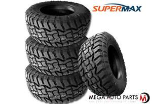 4 Supermax RT-1 33X12.50R18LT 118Q Tires, 10Ply, All-Terrain A/T, Mud M/T, Truck