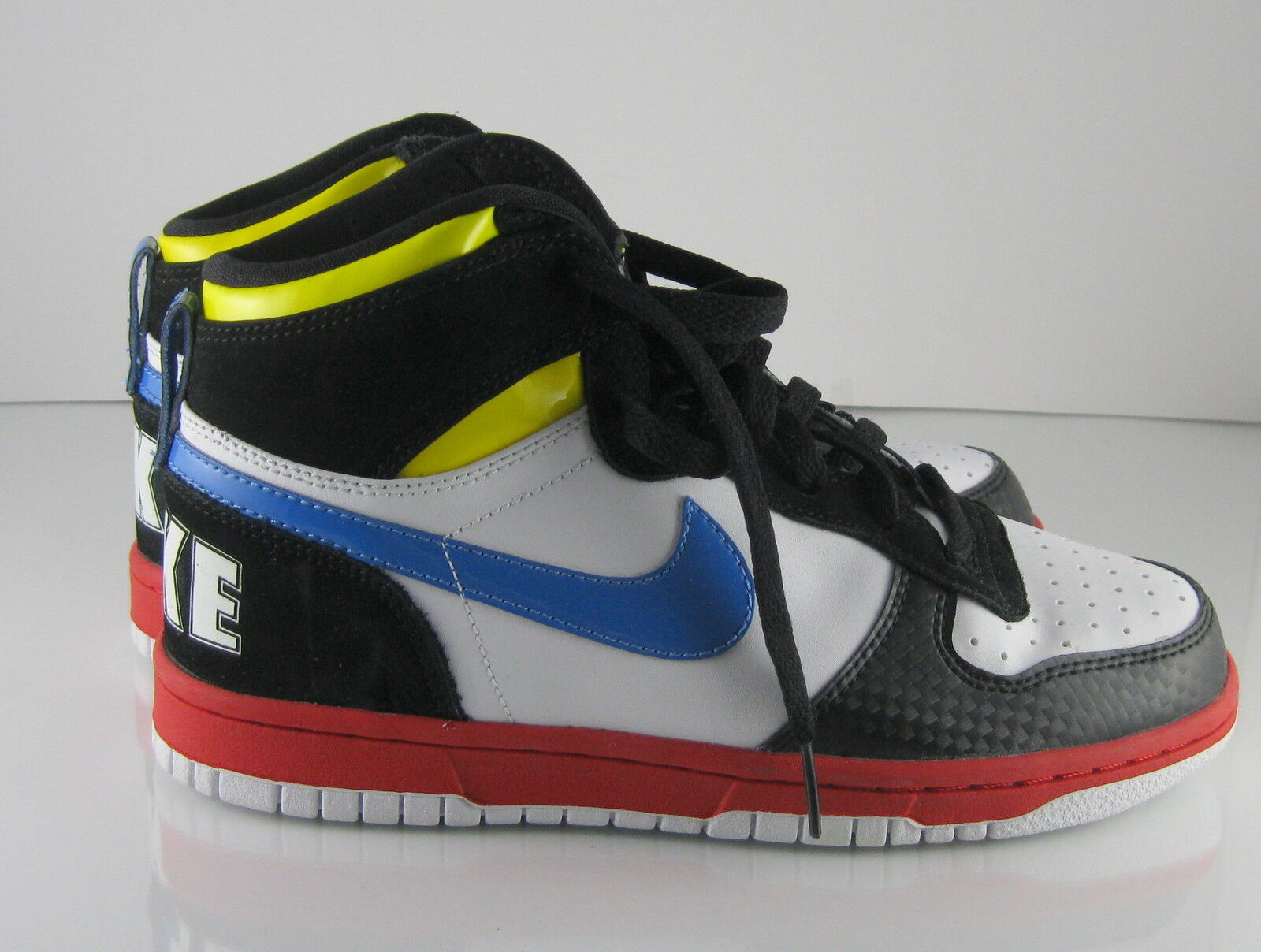 Nike Big Nike Gs Grade School Leather White Blue Black Red Size 5.5Youth
