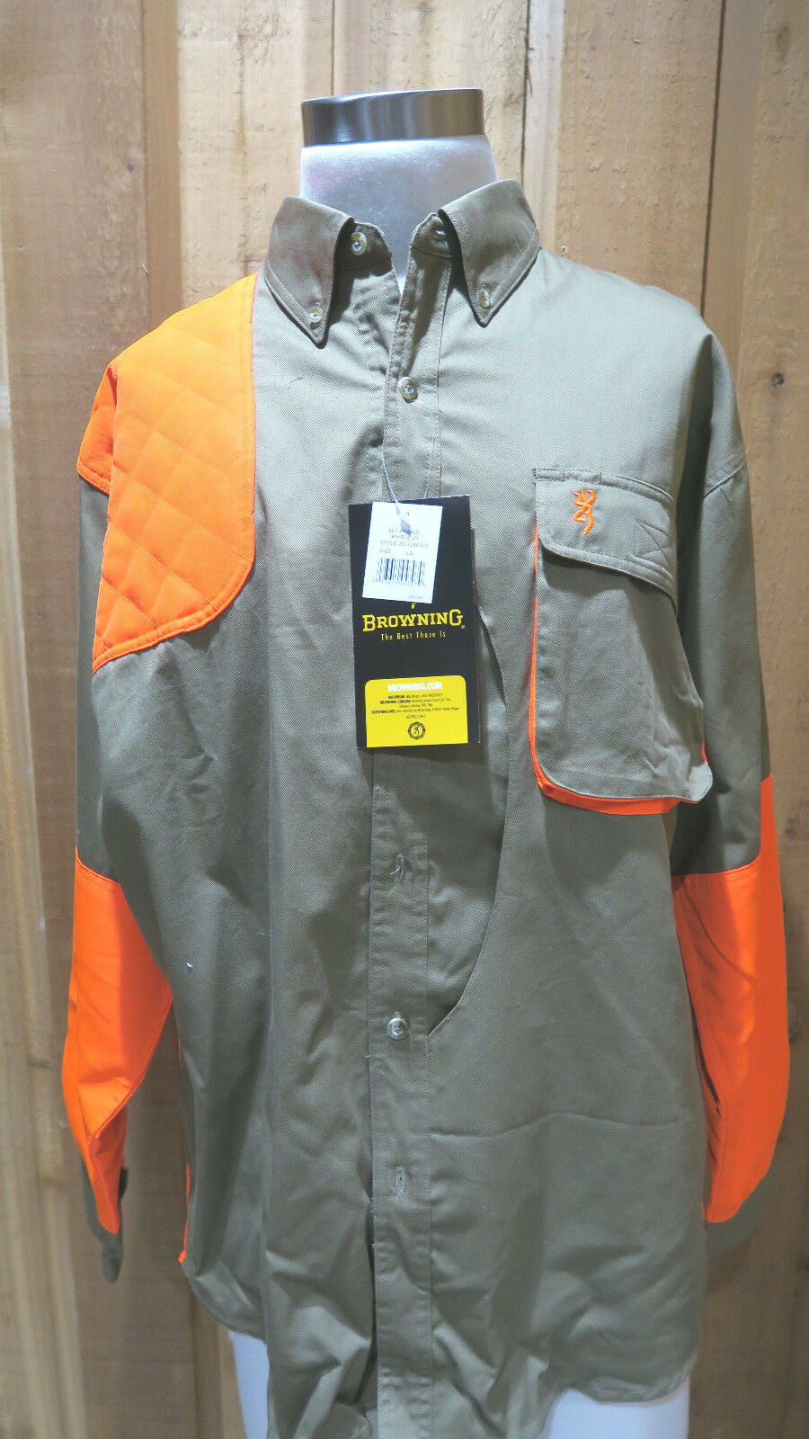NWT Browning Hunting Shooting Quilted Shoulder Game Bag Shirt - Mens large
