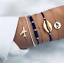 6Pcs-Set-Fashion-Women-Boho-Shell-Airplane-Beaded-Map-Bracelet-Bangle-Jewelry thumbnail 11